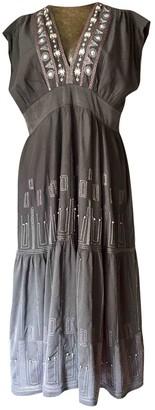 Megan Park Grey Silk Dress for Women