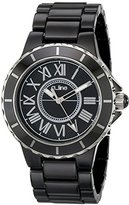 A Line a_line Women's 20040-BKBSR Marina Black Textured Dial Ceramic Watch