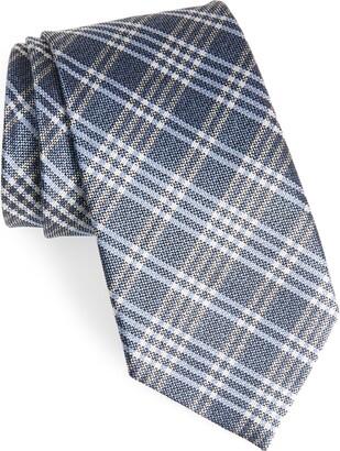 Ermenegildo Zegna Plaid Silk Tie
