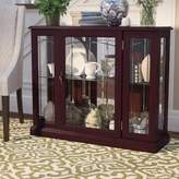 Darby Home Co Purvoche Lighted Console Curio Cabinet