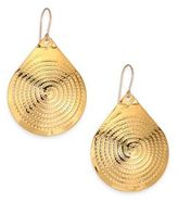 Nest Medallion Drop Earrings
