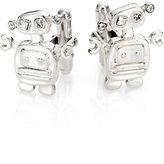 Prada Sterling Silver Robot Cuff Links