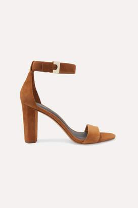 Diane von Furstenberg Chainlink Suede Sandals - Tan