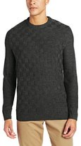 Geoffrey Beene Men's Basket Weave Crew-Neck Solid Sweater