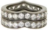 Freida Rothman Pave CZ Heart Stack Ring Set - Size 8