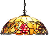 AMORA Amora Lighting AM1040HL16 Tiffany Style Colorful Hanging Lamp