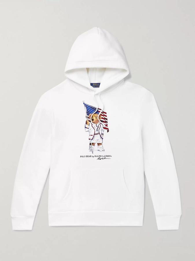 Blend Cotton Jersey Printed Back Fleece Hoodie 9E2WIDH