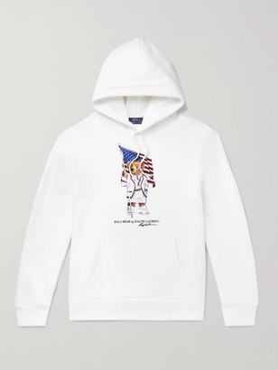 Polo Ralph Lauren Printed Fleece-Back Cotton-Blend Jersey Hoodie