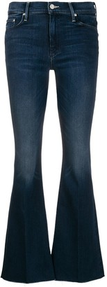 Mother Low Rise Kick Flared Jeans
