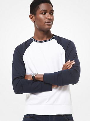 Michael Kors Cotton Baseball Raglan Long-Sleeve T-Shirt