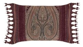"""J Queen New York Garnet Boudoir Decorative Pillow, 15"""" x 23"""" Bedding"""