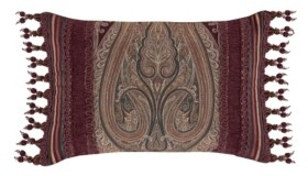 "J Queen New York Garnet Boudoir Decorative Pillow, 15"" x 23"" Bedding"