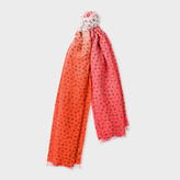 Paul Smith Women's Pink Dip-Dye Musical Notes Wool-Cashmere Scarf