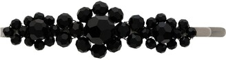 Simone Rocha Black Large Floral Bead Embellished Hair Clip