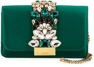 Gedebe Cliky Mini Satin Embellished Clutch Bag