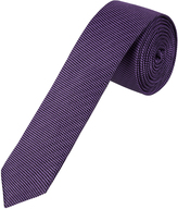 Oxford Silk Tie Textured Skinny Plum X