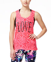 Material Girl Active Juniors' Cutout-Back Graphic Tank Top, Only at Macy's