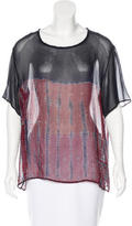 Raquel Allegra Tie-Dye Silk Top