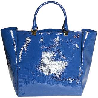 Lanvin Blue Patent leather Handbags