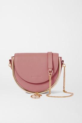 See by Chloe Mara Embellished Leather Shoulder Bag - Blush