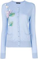 Dolce & Gabbana floral embroidered cardigan - women - Cashmere/Silk - 42