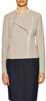 T Tahari Cambria Seamed Asymmetrical Jacket