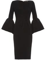 Roksanda Margot bell-sleeve crepe dress