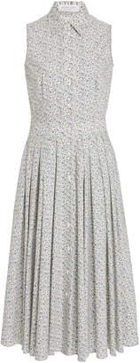 Michael Kors Floral-Print Poplin Shirt Dress