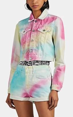 Jordache Women's Tie-Dyed Shrunken Trucker Jacket