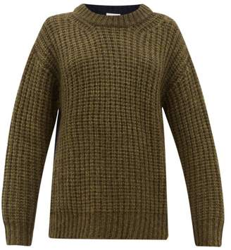 See by Chloe Colour-block Dropped-sleeve Sweater - Womens - Khaki Multi