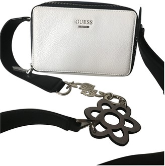 GUESS White Leather Handbags