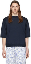 Tibi SSENSE Exclusive Navy Corded T-Shirt