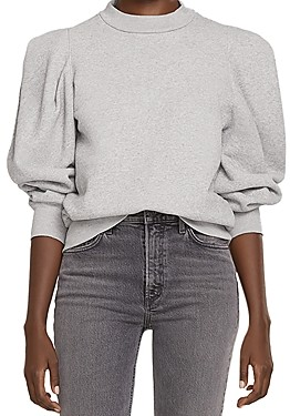 AGOLDE Cotton Puff Sleeve Sweatshirt