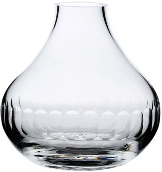 A Hand-Engraved Crystal Vase With Lens Design