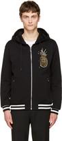 Dolce & Gabbana Black Pineapple Zip Hoodie