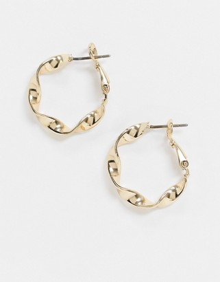 NY:LON twisted hoops in gold