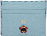 Fendi Blue Flowerland Card Holder