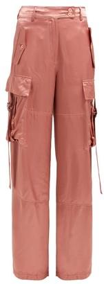 Sies Marjan Sammie Satin Cargo Trousers - Womens - Pink