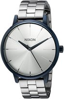 Nixon Women's 'Kensington, Navy' Quartz Stainless Steel Automatic Watch, Color:Silver-Toned (Model: A099-1849-00)