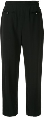 Chanel Pre Owned Wool 1996 Slim-Fit Cropped Trousers