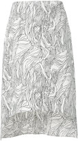 Marni asymmetric midi skirt - women - Cotton - 42