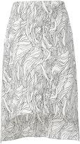Marni asymmetric midi skirt