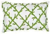 Colleton Lattice Cotton Canvas Lumbar Pillow Highland Dunes Color: Green