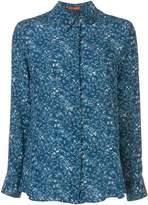 Altuzarra blue floral chika blouse