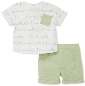 Focus Kids Baby Boys 2-Pc. Avocado-Print T-Shirt & Shorts Set