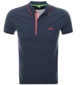 BOSS GREEN Paul 4 Jersey Polo T Shirt Navy