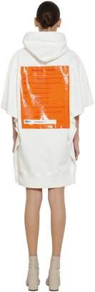 MM6 MAISON MARGIELA Hooded Cotton Sweatshirt Dress