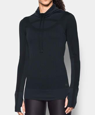Under Armour Women's Sweatshirts and Hoodies BLACK - Black Threadborne Seamless Funnel Neck Pullover - Women