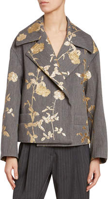 Dries Van Noten Matelasse Chinoiserie Jacket