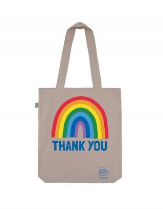Little Mistress x Kindred Rainbow Thank You NHS Rainbow Misty Pink Tote Bag
